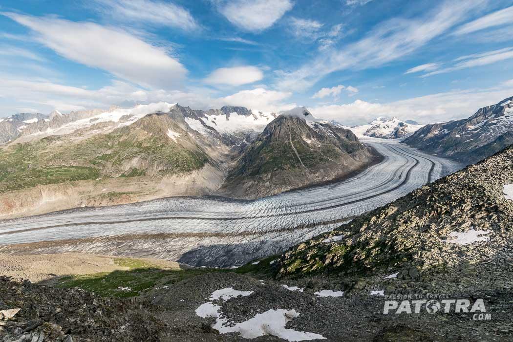 Aletschgletscher spektakuläre Ausflugsziele Schweiz