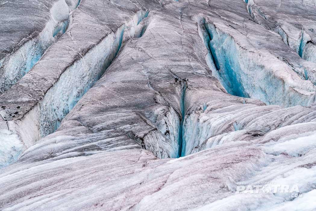 Aletschgletscher Muster