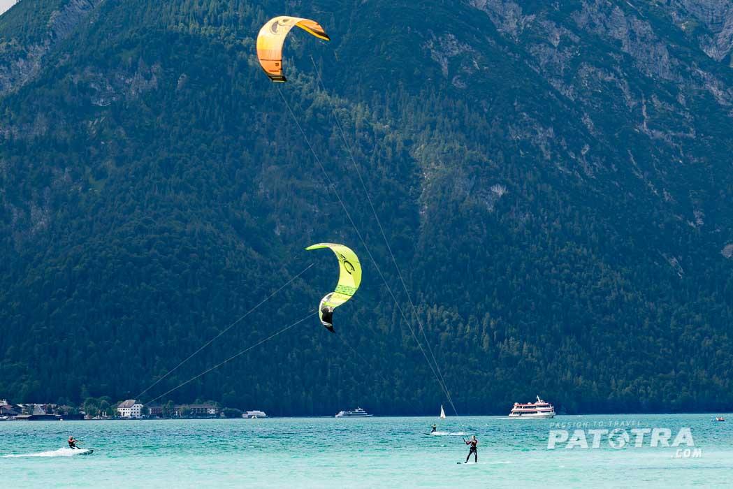 Kitesurfen auf dem Achensee