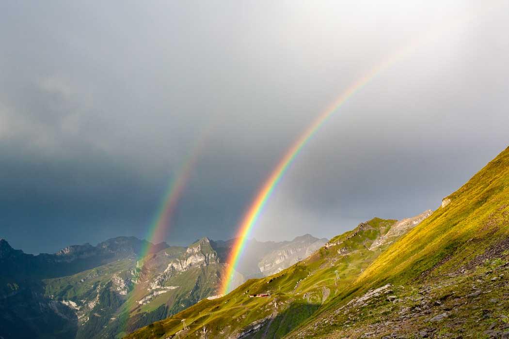 doppelter Regenbogen Trübsee