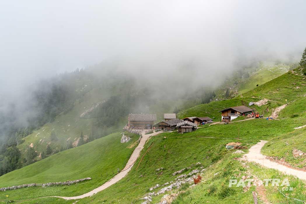 Dalfazalm in Wolken