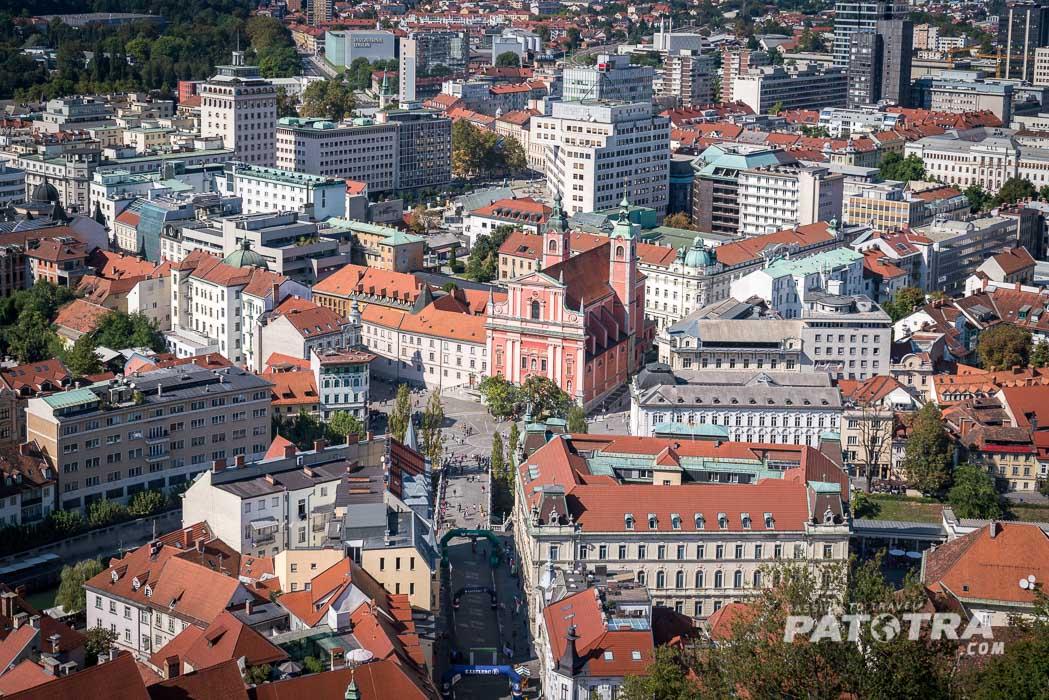 Der Ausblick auf Ljubljana