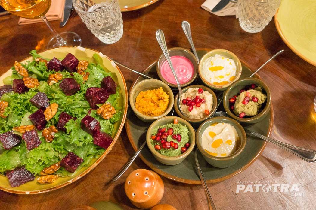 Salate und Vorspeisen im Restaurant Shirajkhana