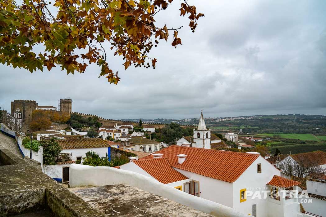 Der Blick über das Dorf Obidos