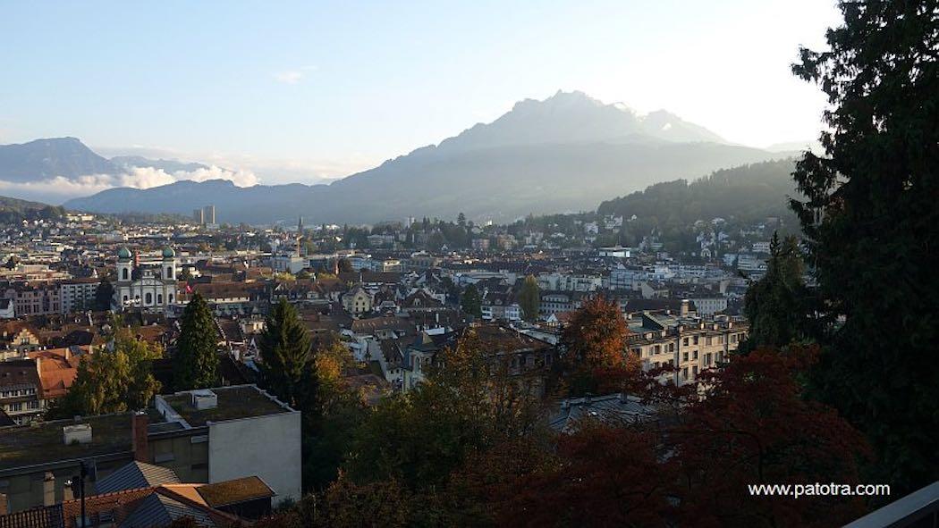 Blick ueber Luzern
