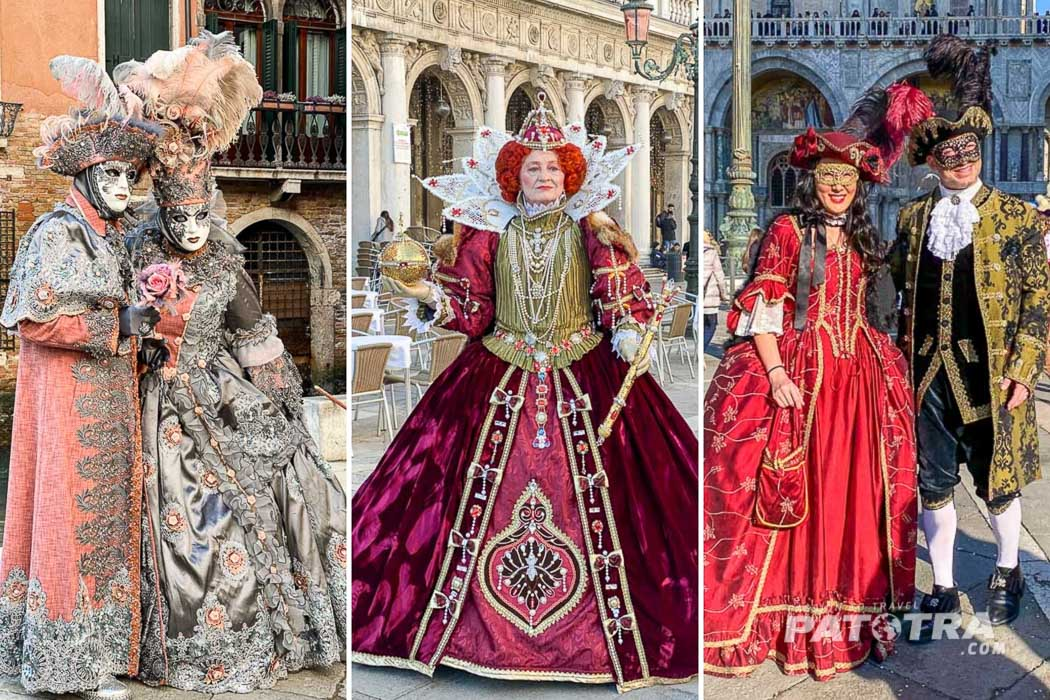 Masken zu Karneval in Venedig