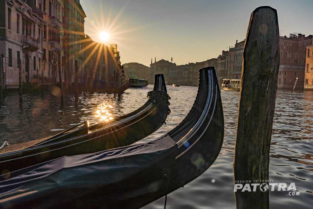 Sonneuntergang über Venedig