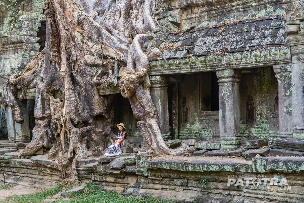 Tempel mit Touristen