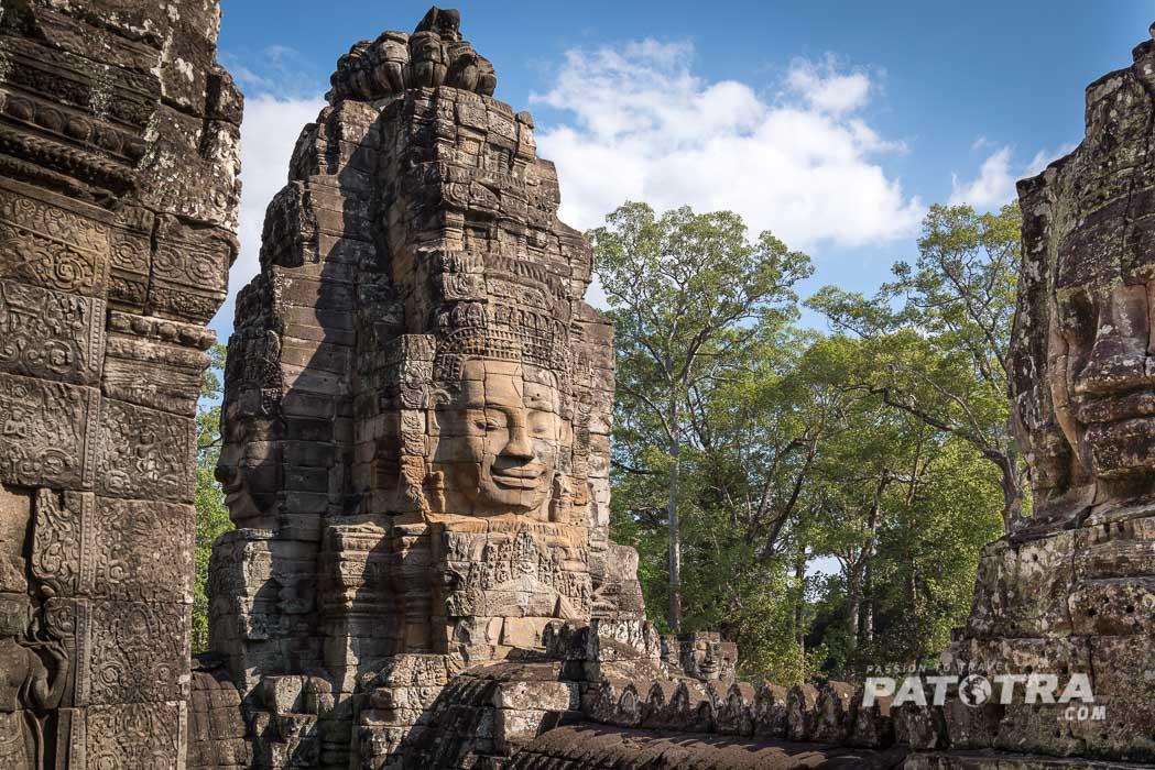 Die Gesichter des Bayon Tempel