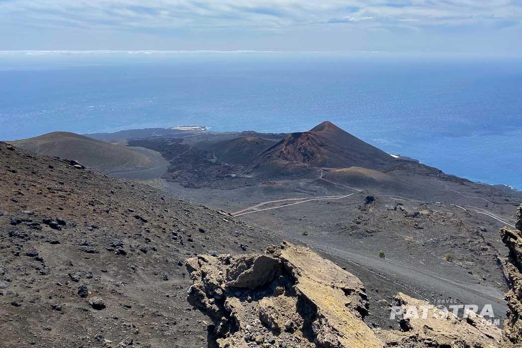 Der Blick über die vulkanlandschaft