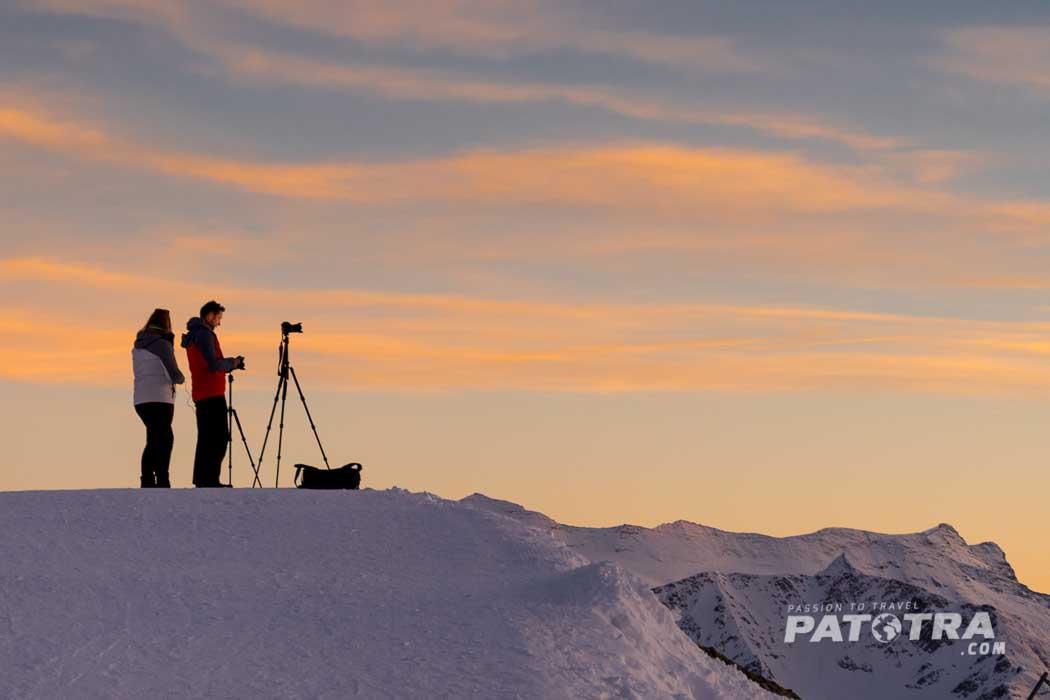 Sonnenuntergang beim Kurs zur Sternenfotografie