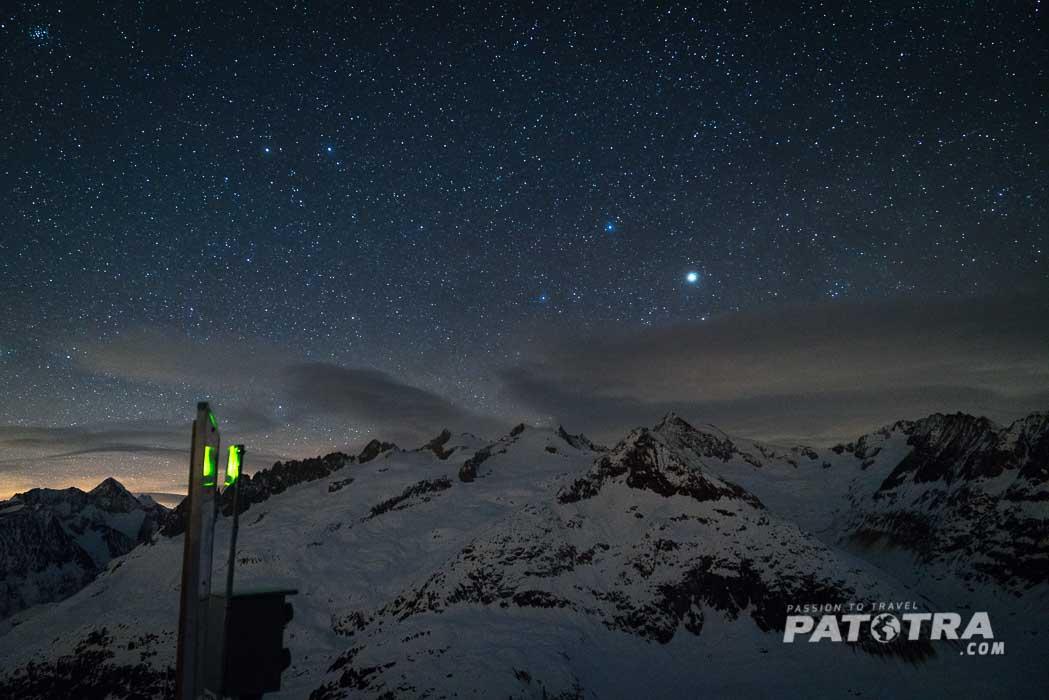 Sternenhimmel über dem Bettmerhorn