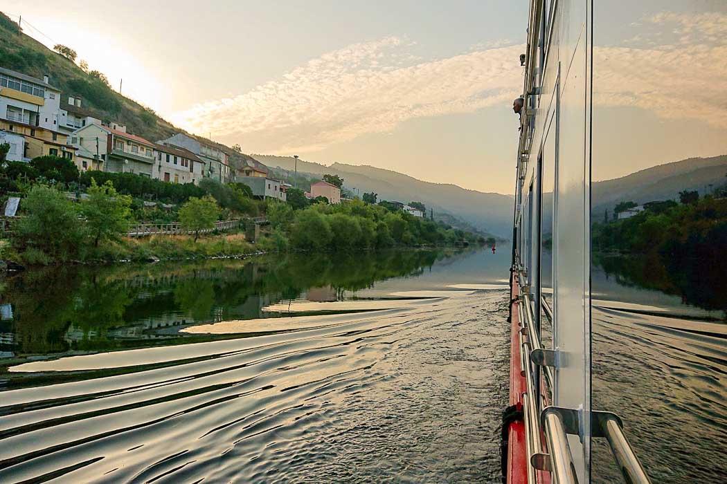 Flusskreuzfahrt auf dem Douro - Aussicht von der Kabine