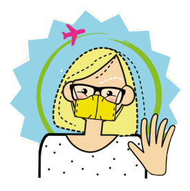 Patotra trägt Maske