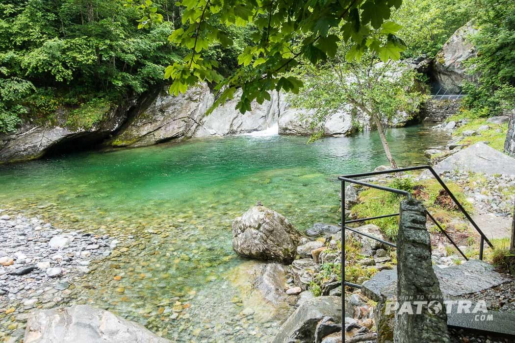 Baden beim Grotto Pozzasc