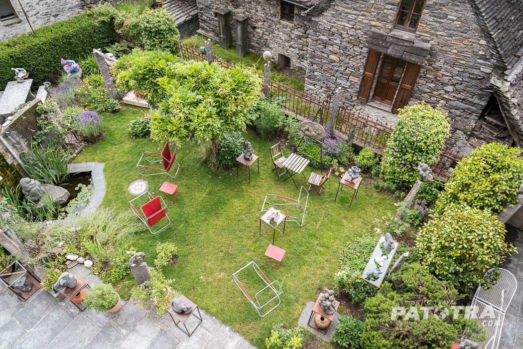 Garten Kunst Bio Hotel Tessin