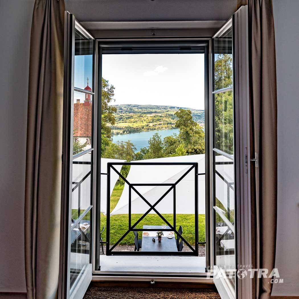 Ausblick vom Zimmer Schloss Freudenfels