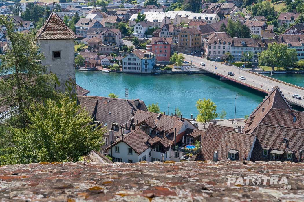 Blick auf den Rhein vom Munot