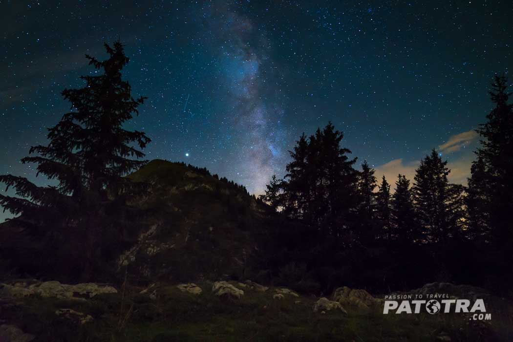 Sternenhimmel in den Bergen