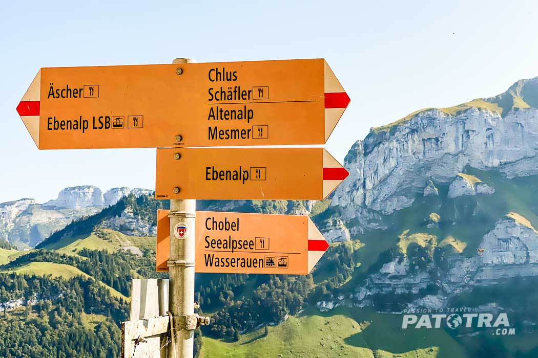 Wanderwege im Alpstein