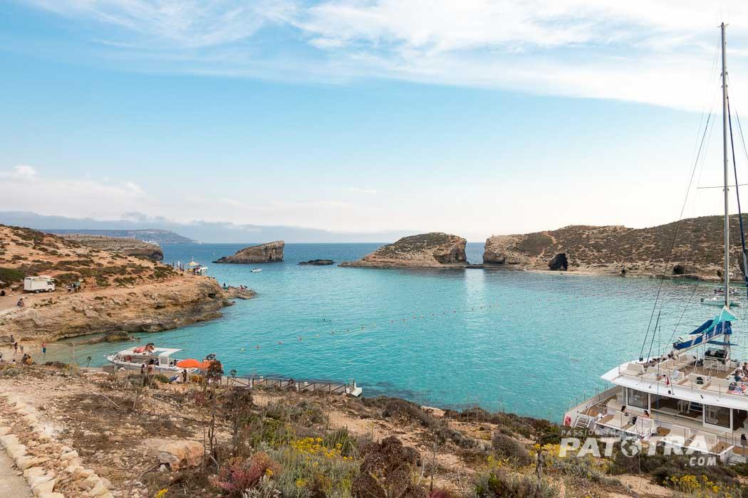 Die blaue Lagune von Comino