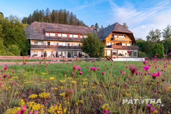 Hotel Tannhof mit Blumen