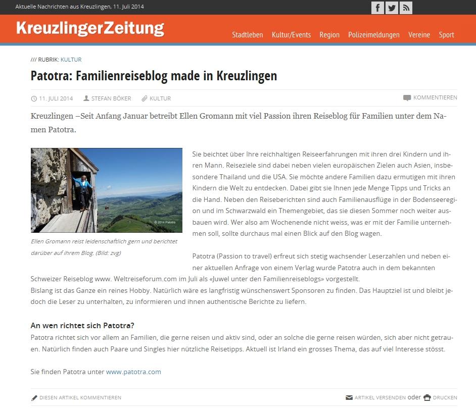 Patotra: Reiseblog made in Kreuzlingen