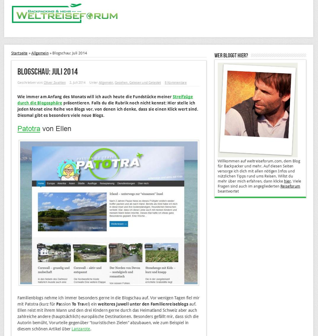 WeltreiseForum.com 2.07.2014